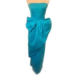 INCREDIBLE vintage blue strapless dress gown